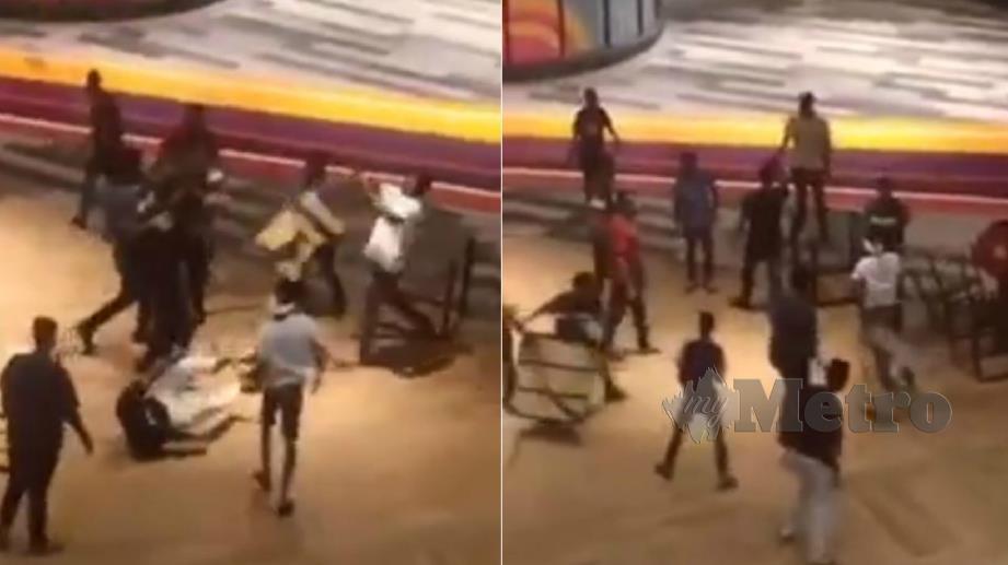 RAKAMAN video insiden pergaduhan yang tular. FOTO Ihsan Pembaca