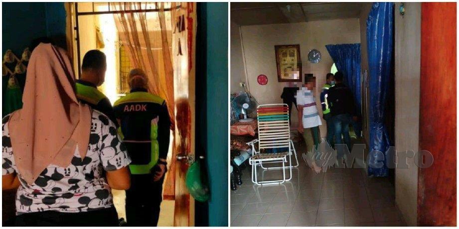 ANTARA individu yang ditahan AADK Daerah Kuala Muda di sekitar Sungai Petani. FOTO ihsan AADK