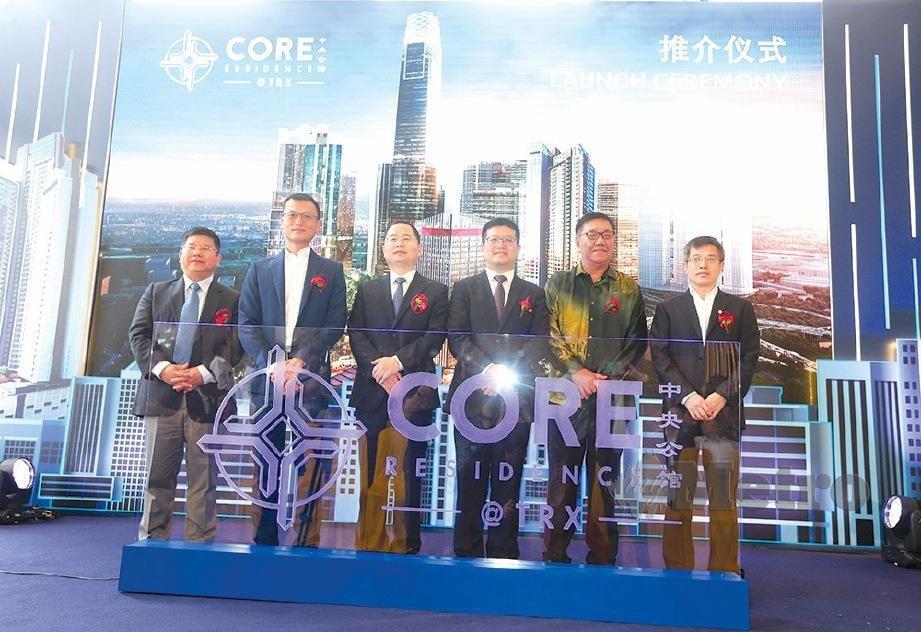 PENGURUSAN tertinggi CCCG, Core Precious Development, WCT Holdings Bhd dan TRX City Sdn Bhd pada majlis pelancaran projek Core Residence di Kuala Lumpur.