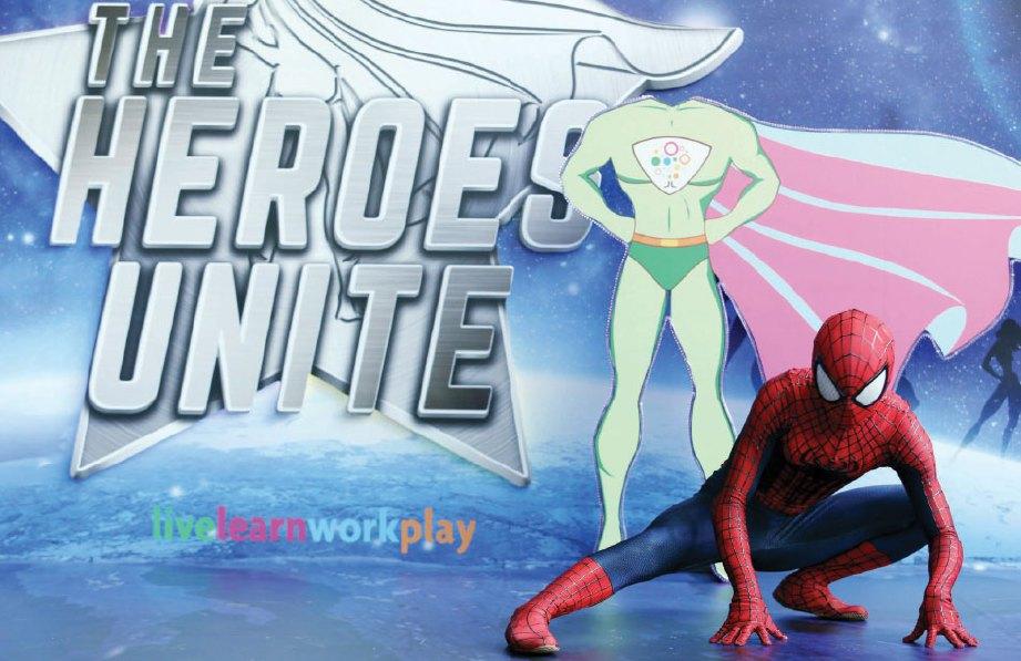 KELEBIHAN apabila karakter 'Spider-Man' menggayakan gerakan popular.
