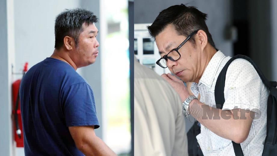 TEOH dan Ng Wai (kanan) didapati bersalah oleh Mahkamah Sesyen Ipoh, hari ini. FOTO Muhaizan Yahya