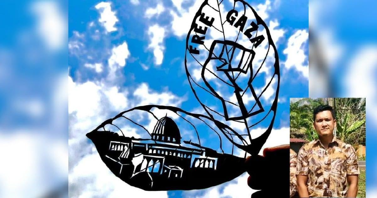 Ukiran Masjid al-Aqsa tanda solidariti