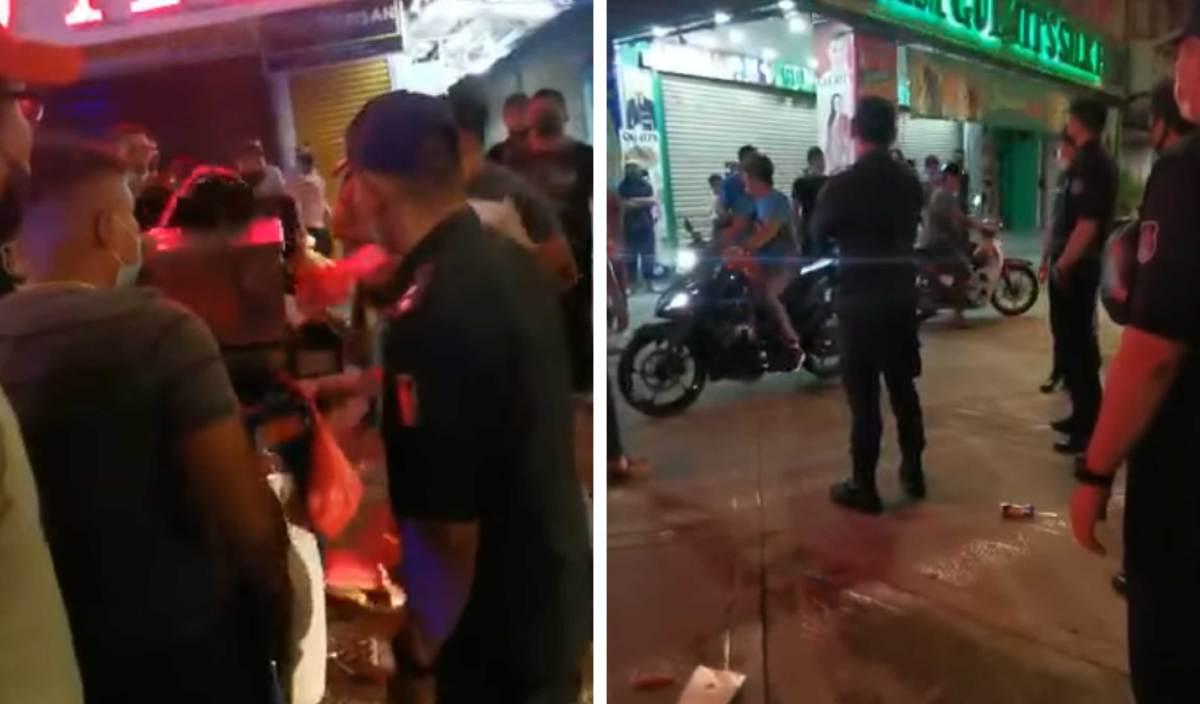 PENJAJA melakukan provokasi ke atas penguatkuasa DBKL di Jalan Tuanku Abdul Rahman (TAR), semalam.