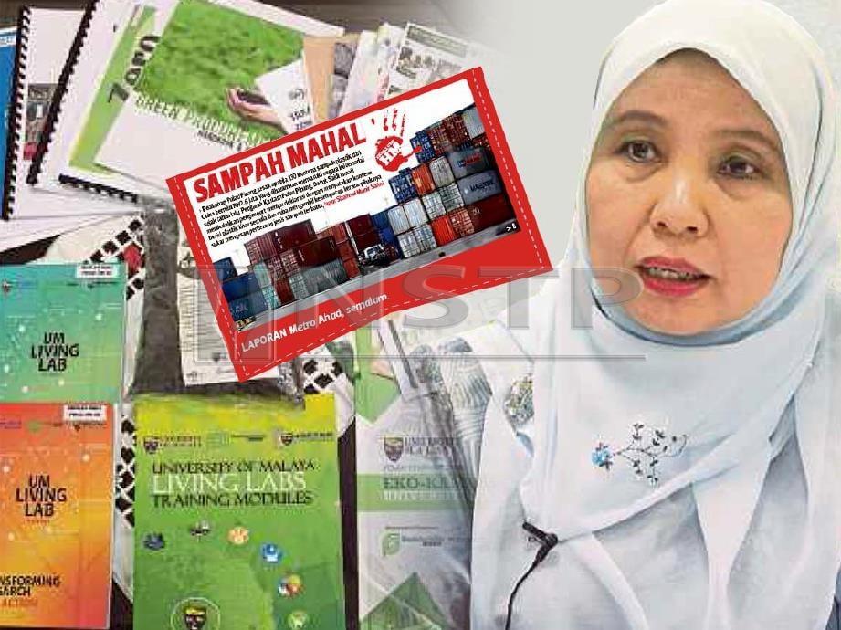 ANTARA buku  dan risalah kempen  ditulis Dr Sumiani (gambar kanan) mengenai isu sampah plastik.