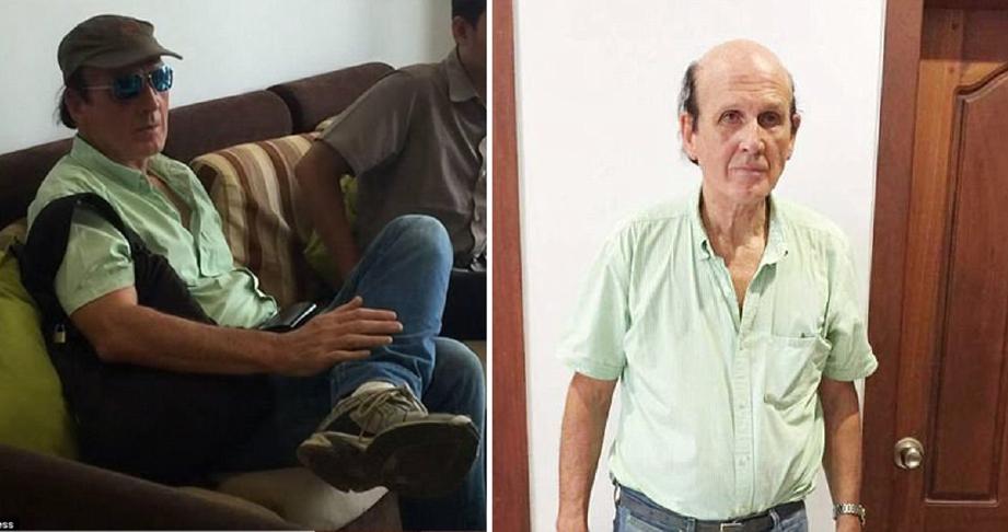 Clive Cressy, 69, doktor dari Britain ketika ditahan minggu lalu, dan gambar kanan, ketika dihadapkan ke mahkamah, semalam. - Foto DM