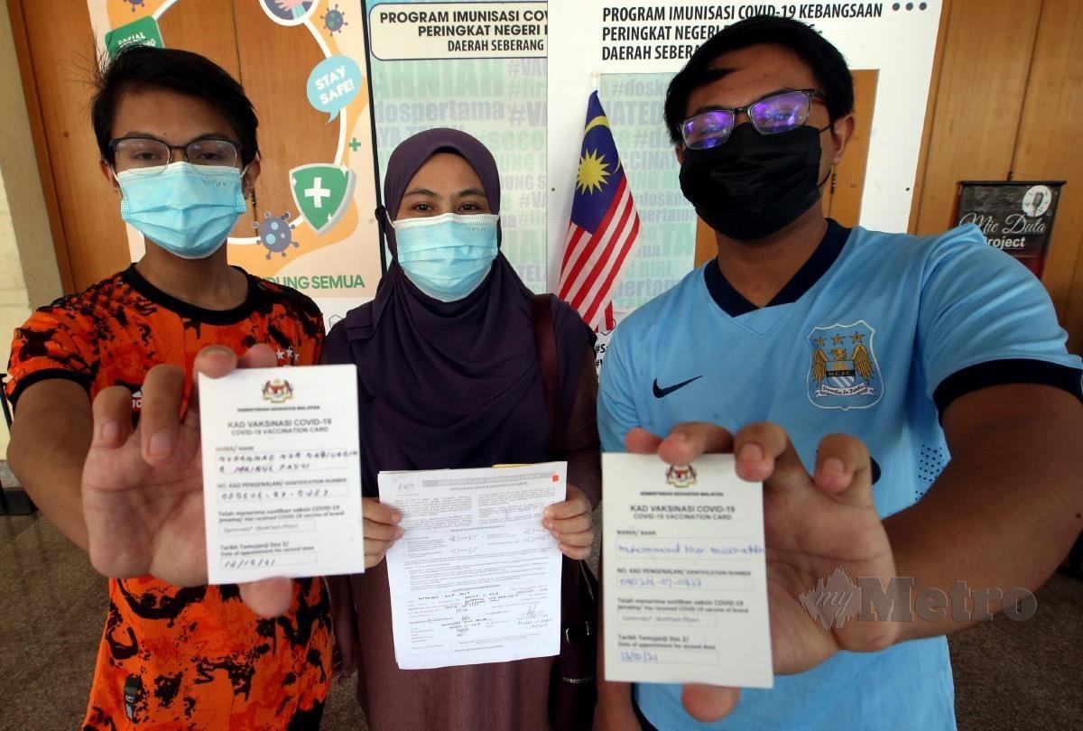 ANTARA pelajar yang telah divaksin. FOTO NSTP