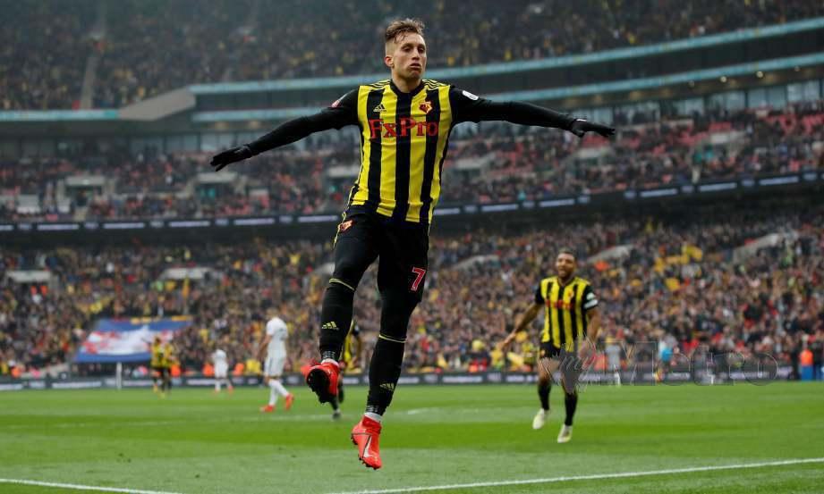 GERARD Deulofeu dari Sepanyol wira Watford dengan dua gol pada separuh akhir. — FOTO Agensi
