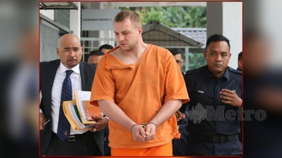 Mahkamah Majistret Sepang menjatuhkan hukuman denda RM12,000 ke atas warga Lithuania hari ini. FOTO Ahmad Irham Mohd Noor