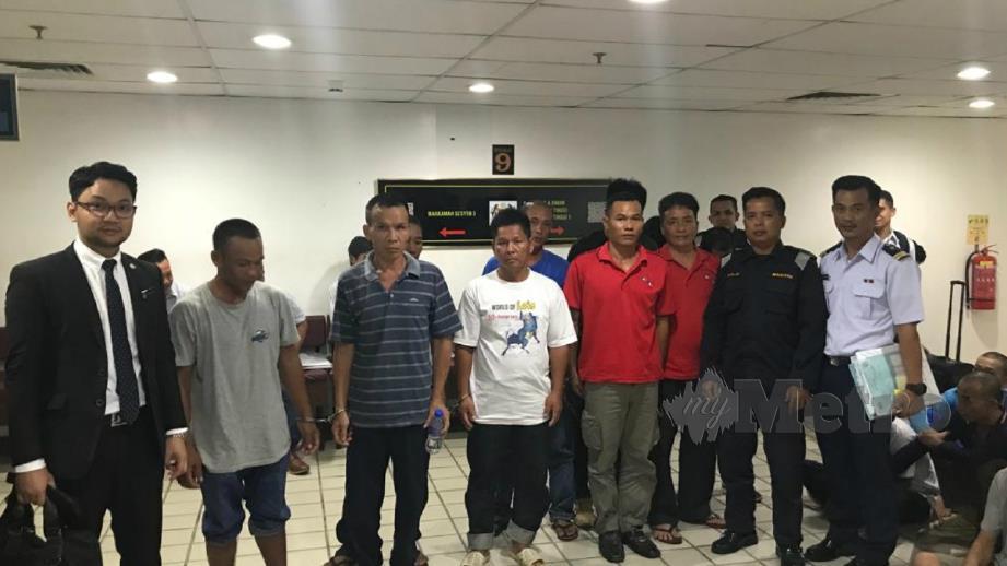 Nelayan Vietnam yang dijatuhi hukuman denda keseluruhan RM2.58 juta hari ini. FOTO Zatul Iffah Zolkiply
