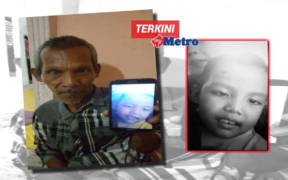 Abd Kadir Md Salleh, 59, menunjukkan gambar cucunya yang mati didera.