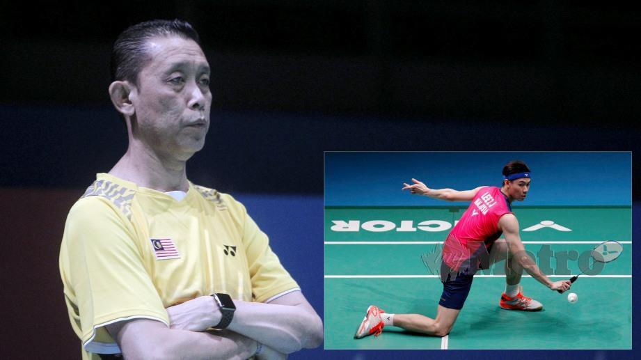 Misbun (kiri) anggap prestasi Zii Jia masih belum mencapai tahap permainan Chong Wei. FOTO NSTP