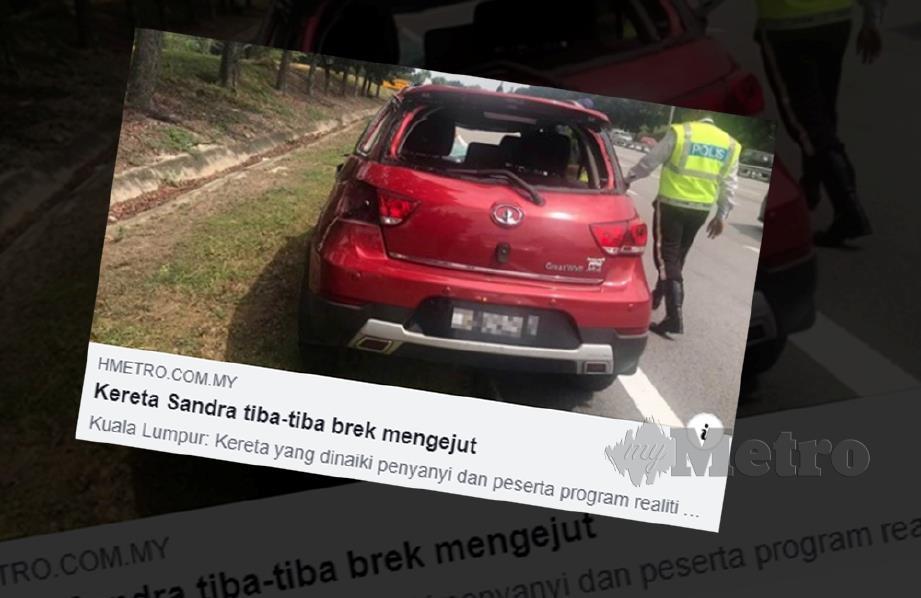 KERATAN laporan Harian Metro.