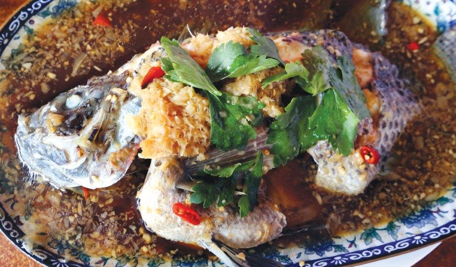 PILIHAN menarik menerusi masakan ikan talipia kukus.