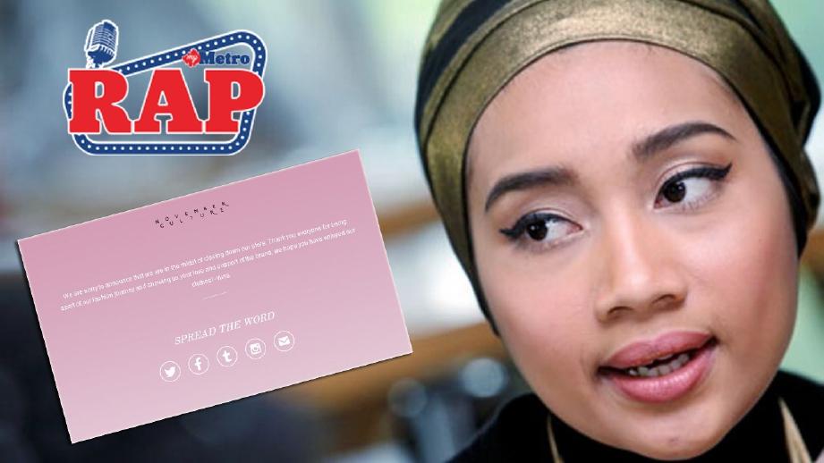 Yuna terpaksa perniagaan pakaian yang beroperasi sejak enam tahun lalu. FOTo fail HM/NC