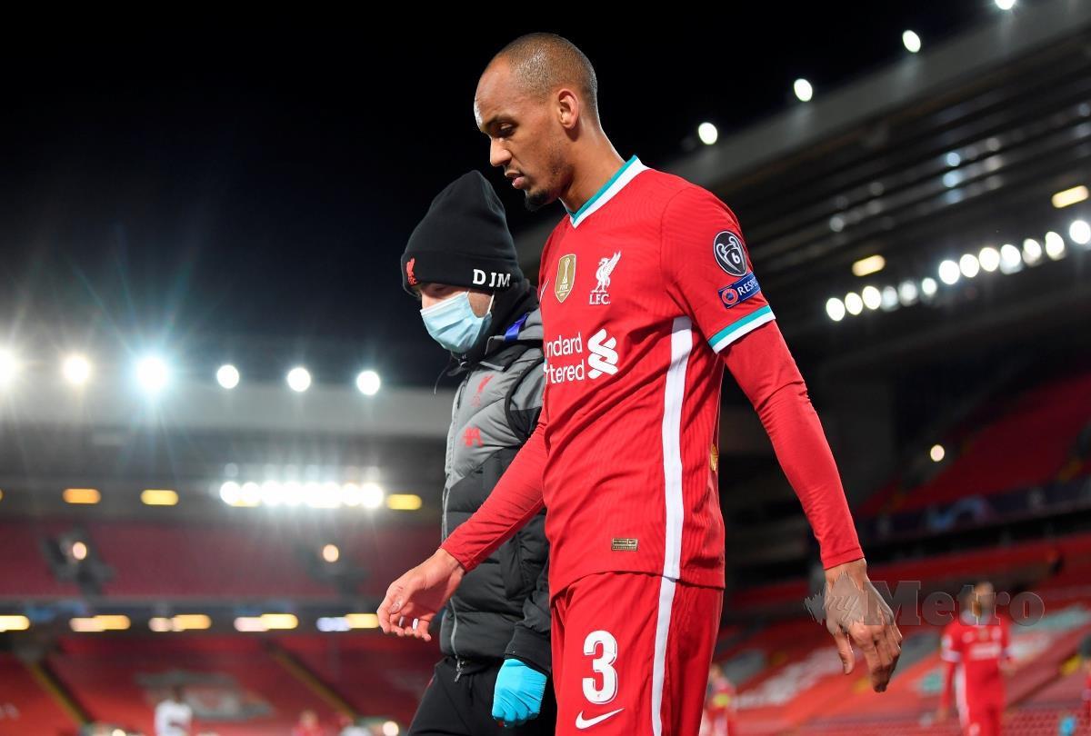 FABINHO watak penting Liverpool. FOTO EPA