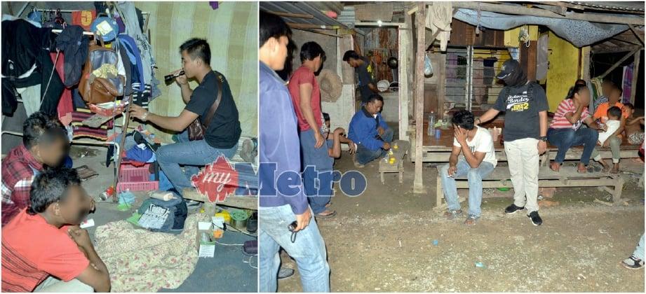Penguatkuasa AADK Perlis menyerbu dan menahan empat adik-beradik disyaki positif dadah jenis methamphetamine dalam serbuan di Kampung Syed Omar, Kangar. FOTO Ihsan AADK