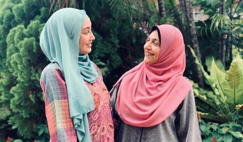 FATHIA (kiri) bersedia berdepan kecaman peminat. FOTO IG fathialatiff