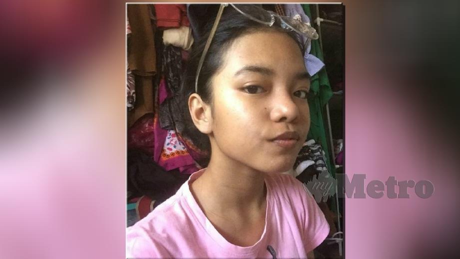 FATIN Nur Nadia menghilangkan diri sejak 10 Jun lalu. FOTO ihsan keluarga