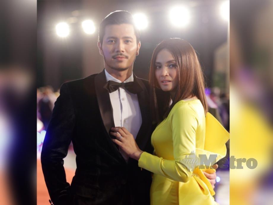 FATTAH Amin bersama isterinya, Fazura.