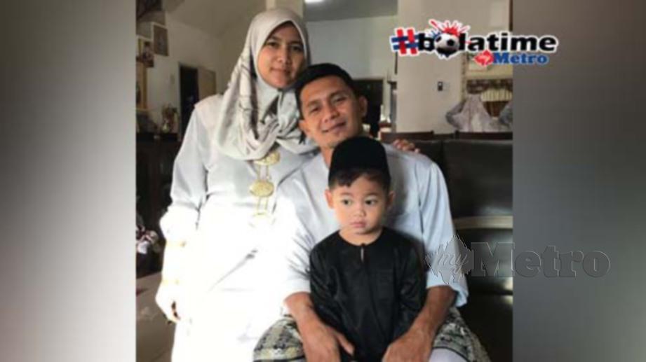 Fauzi bersama keluarganya meraikan Aidilfitri penuh ceria tahun ini. FOTO NAZRI ABU BAKAR