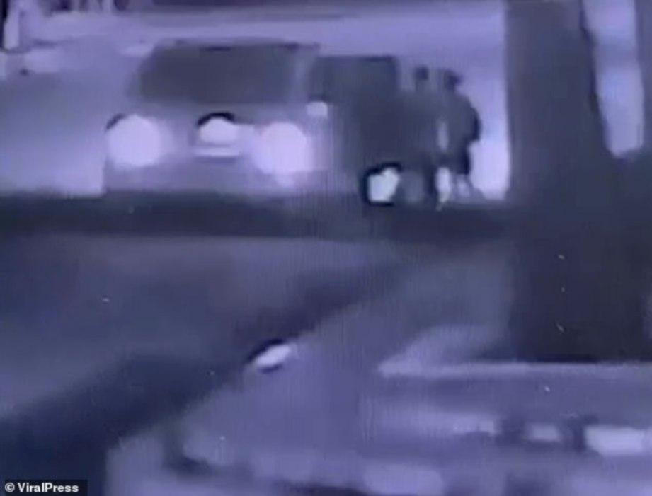 RAKAMAN CCTV ketika kejadian.