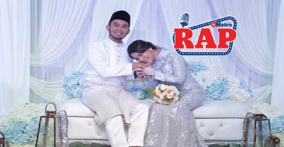 FIZI dan Shakilla merakamkan detik manis selepas diijabkabulkan, hari ini. FOTO Nurul Syazana Rose Rizman
