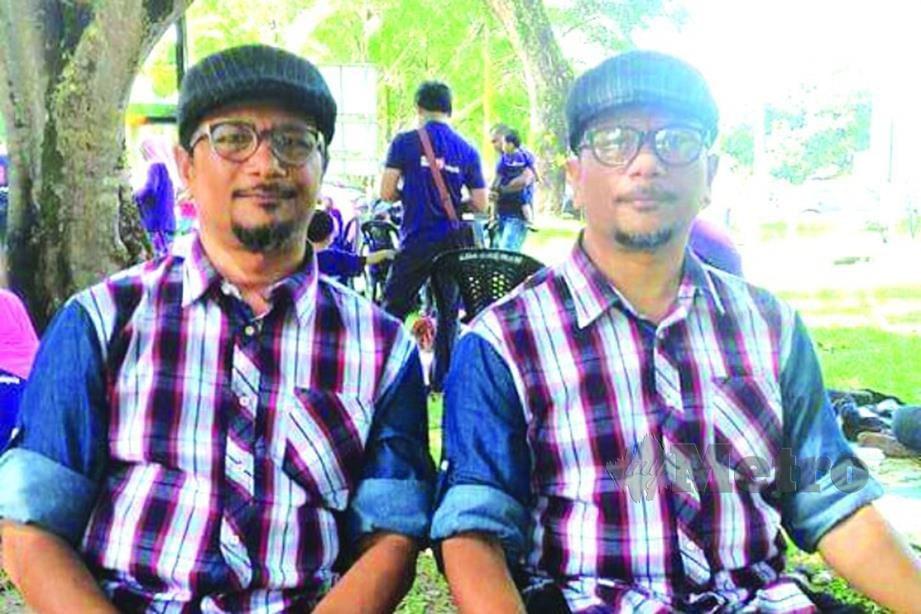 ILLYA (kiri) dan abangnya, Yang Sharkawi.
