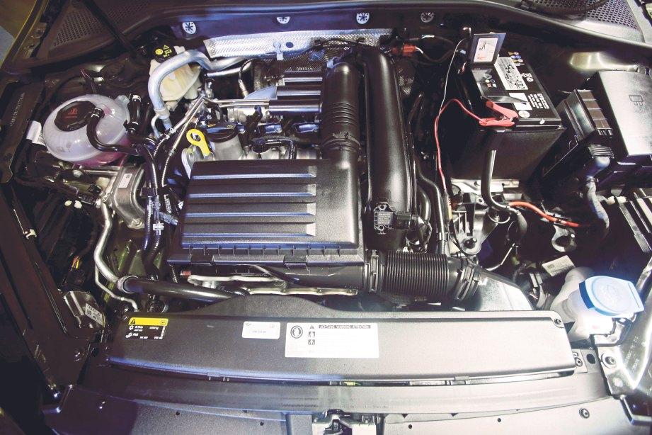 ENJIN 1.4L TSI bercas turbo berkuasa.