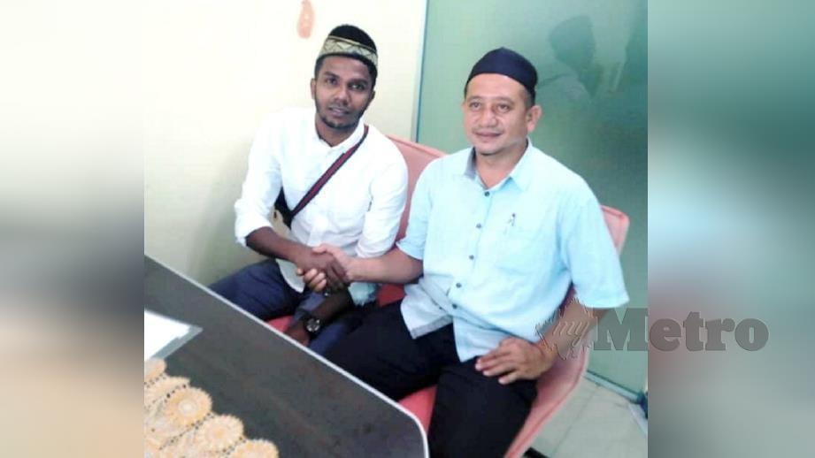 GOPINATHAN (kiri) kini menggunakan nama Muhammad Gopi Rizqi. FOTO ihsan pembaca.