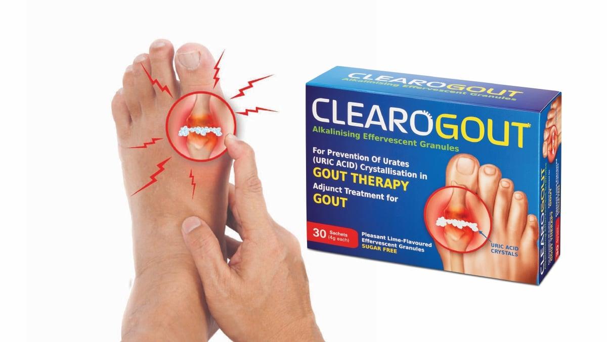 CLEAROGOUT penyelesaian peneutralan asid urik untuk masalah gout!