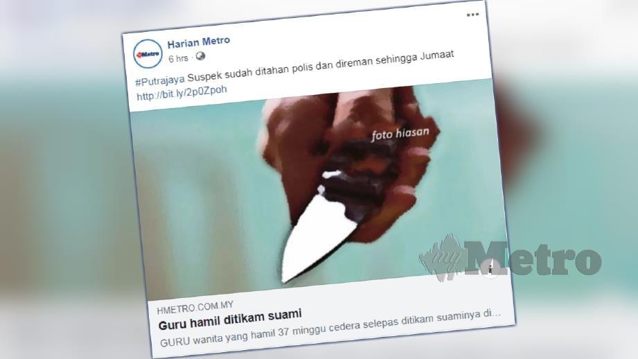 Laporan portal berita Harian Metro hari ini.