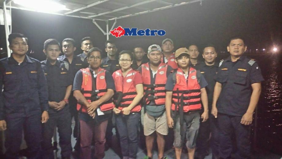Mangsa yang diselamatkan APMM Daerah Kota Kinabalu. FOTO Mohd Adam Arinin