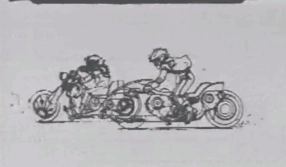 HELAIAN kertas hasilkan pergerakan animasi.