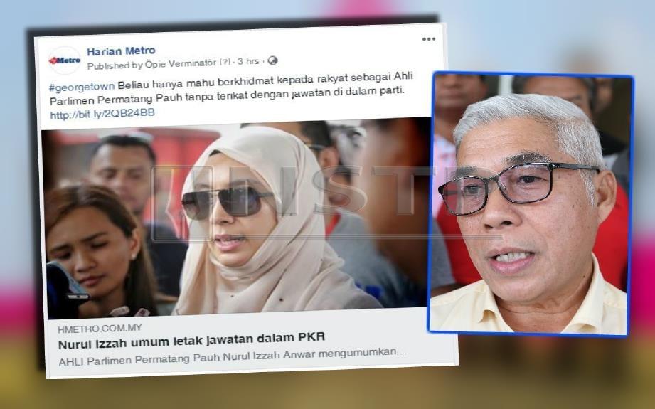 Hassan (kanan) antara yang dipertikaikan pelantikannya sebagai Pengerusi PKR negeri kerana dikatakan tidak mendapat sokongan majoriti ketua cabang.