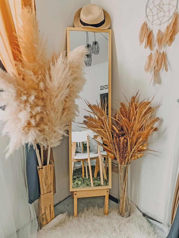 ANTARA pokok hiasan memberi kesegaran di dalam rumah.