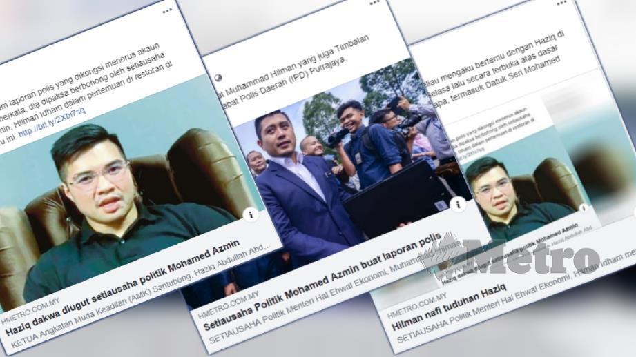 Laporan portal berita Harian Metro beberapa hari lalu.