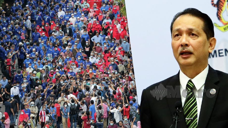 DR Noor Hisham mengesahkan tiada kes membabitkan penyokong Najib. FOTO Arkib NSTP.