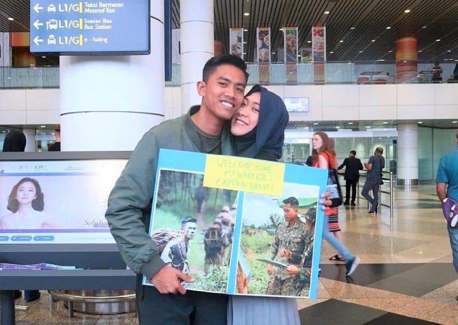 PENGACARA, Dayah bersama suaminya. FOTO Ihsan Instagram
