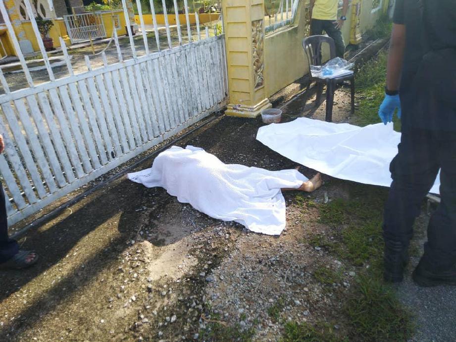 LOKASI wanita warga emas maut dilanggar kereta ketika melintas jalan di Jalan Kampung Sungai Siput, Lubok Cina dekat Alor Gajah. FOTO ihsan PDRM