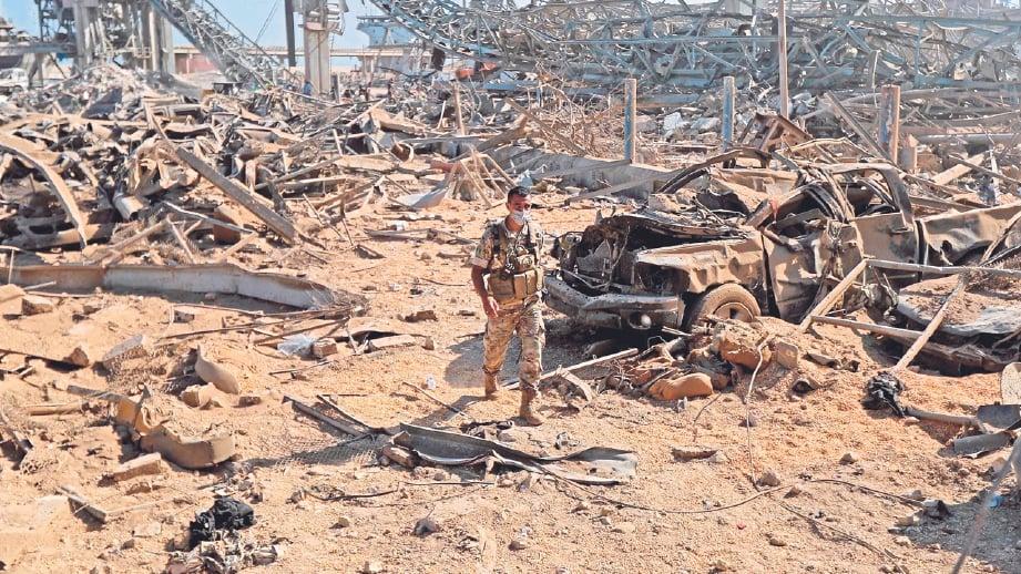 KERUGIAN akibat letupan dianggarkan mencecah AS20 bilion (RM84 bilion).
