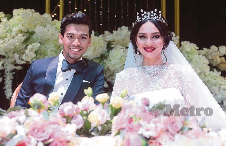 NADIA Najwa Mohamad Rashidi atau dikenali Nadia brian bersama suami, Abdul Mu'izz Mohamad Nasruddin. FOTO arkib NSTP