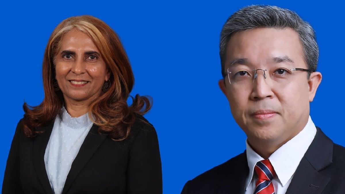 DEKAN Fakulti Bahasa dan Linguistik UM  Profesor Madya Dr  Surinderpal Kaur C.S (kiri) dan Naib Canselor UM, Datuk Profesor Ir. Dr. Mohd Hamdi Abd Shukor.