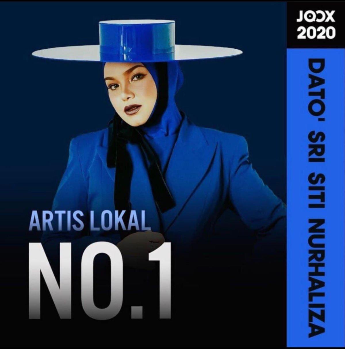Siti Nurhaliza paling banyak distrim di Joox 3