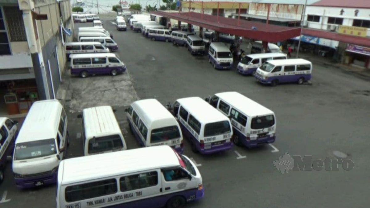 BAS henti-henti dan pengangkutan awam dibenarkan beroperasi di Sabah. FOTO Hazsyah Rahman
