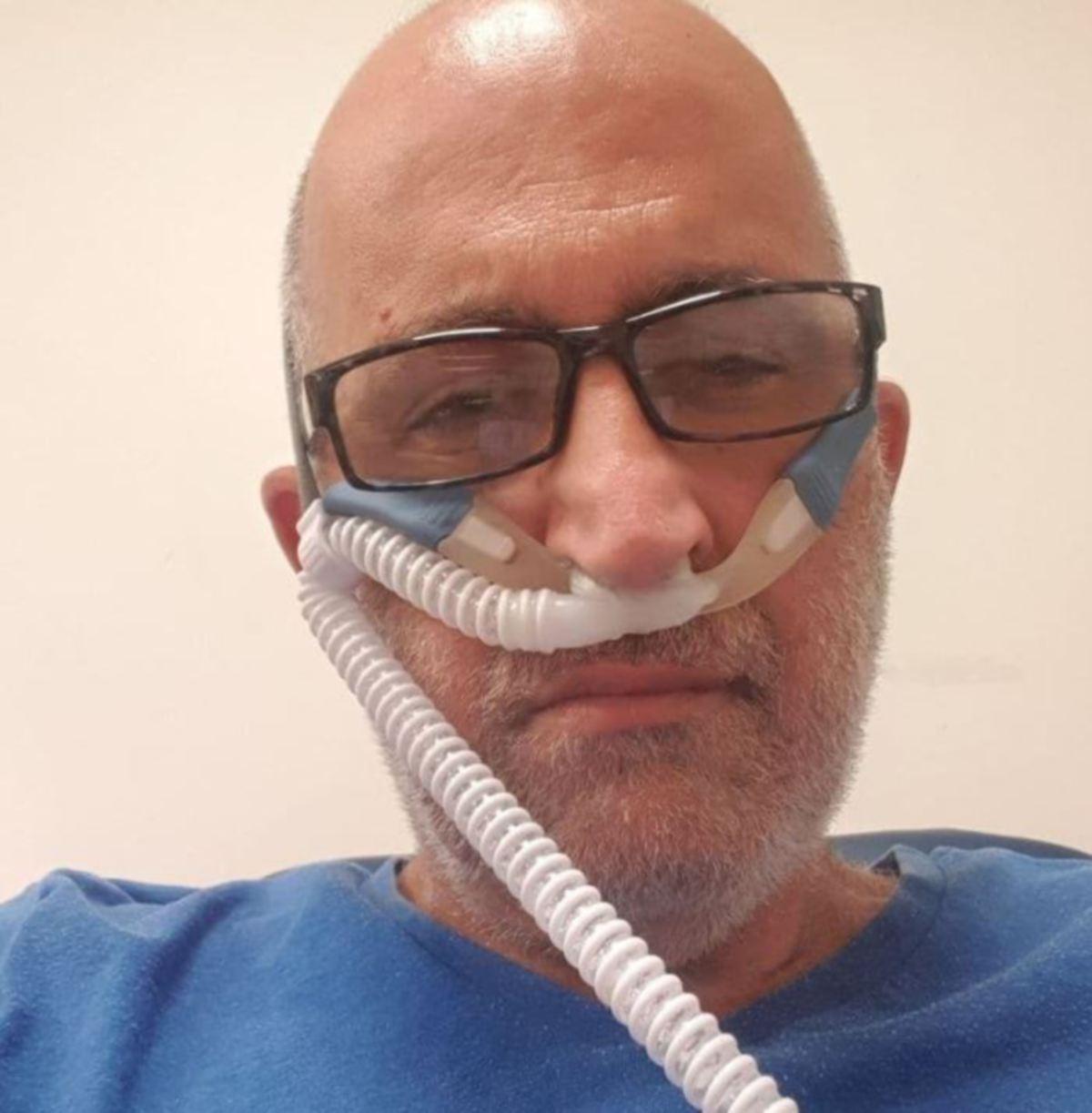 Shaulian ketika berada di hospital menerima rawatan Covid-19. - FOTO Agensi