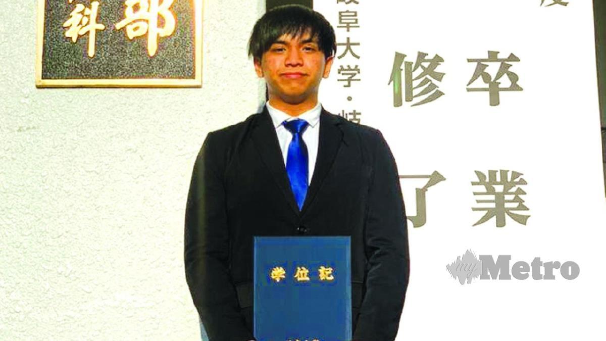 BERJAYA menggulung ijazah Sarjana Muda Kejuruteraan Mekanikal di Universiti Gifu, Jepun.