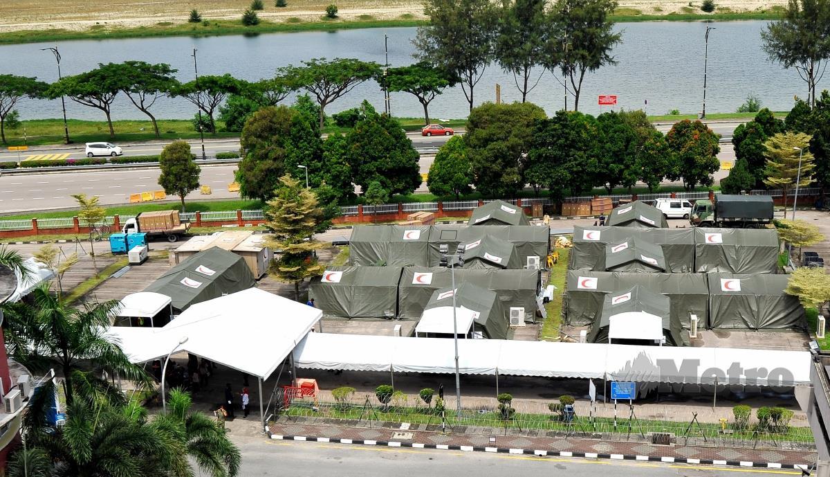 HOSPITAL medan yang akan beroperasi mulai 17 Jun 2021 di Hospital Sultanah Aminah Johor Bahru, Johor. FOTO Nur Aisyah Mazalan