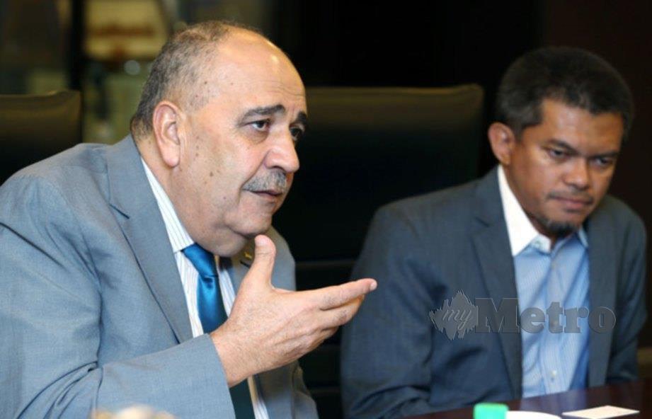 DUTA Palestin ke Malaysia Walid Abu Ali pada sesi lawatan di Balai Berita NSTP. FOTO Rohanis Shukri