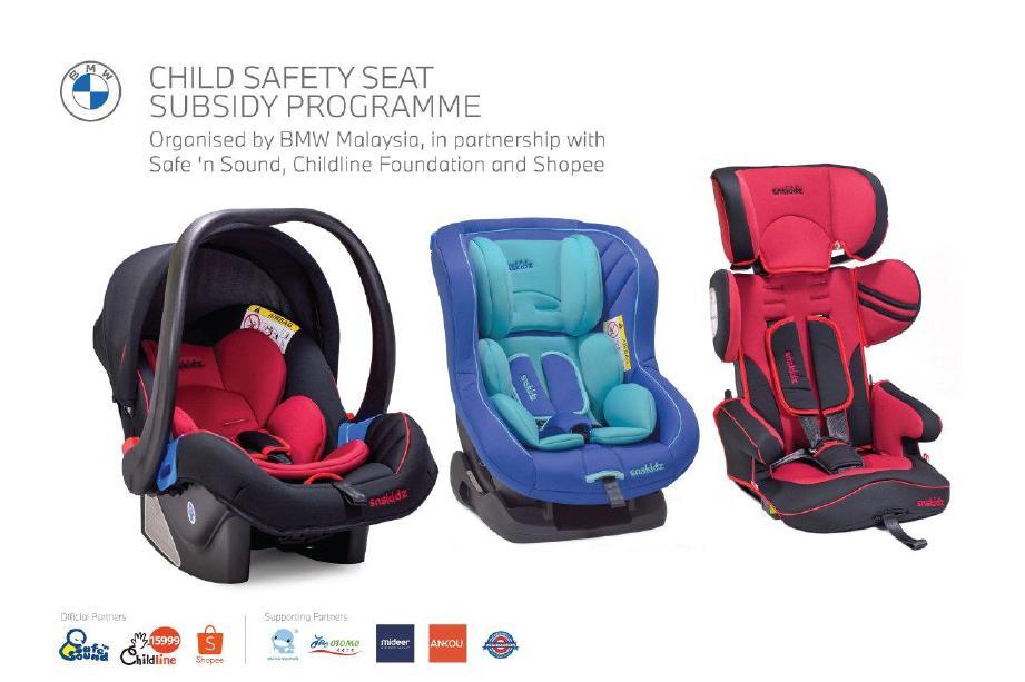 BMW Malaysia melancarkan fasa kedua program subsidi kerusi kereta kanak-kanak.