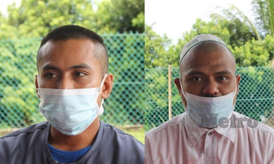 FARID Zulkifli (kiri) dan Nazelan Che Nordin (kanan). FOTO Mohd Amin Jalil.